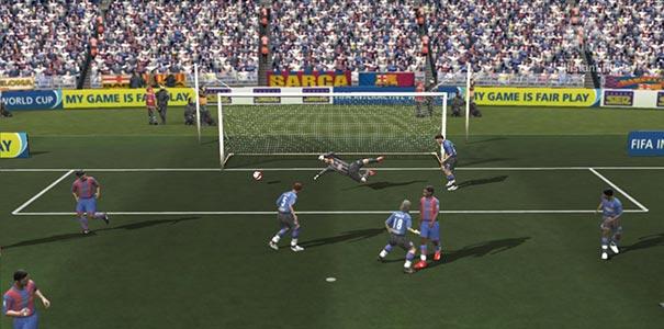 Bola Entrando No Gol Em FIFA Soccer 2008