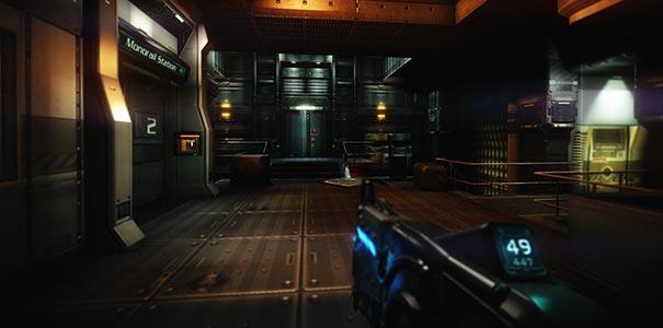 Em Doom 3 Os Cenarios São Repetitivos Porém Bonitos