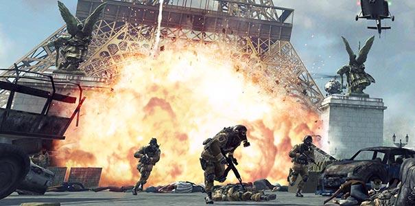 Explosão Na Torre Eiffel Em Call of Duty: Modern Warfare 3