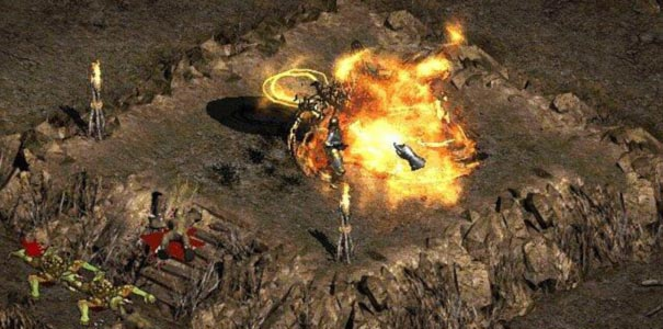 Jogador Lancando Magia Em Diablo II: Lord Of Destruction