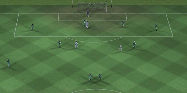 Visão Aérea Do Campo De Futebol Em FIFA Soccer 2008
