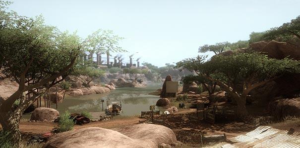 Belo Oasis Perdido Em Meio Ao Deserto De Far Cry 2