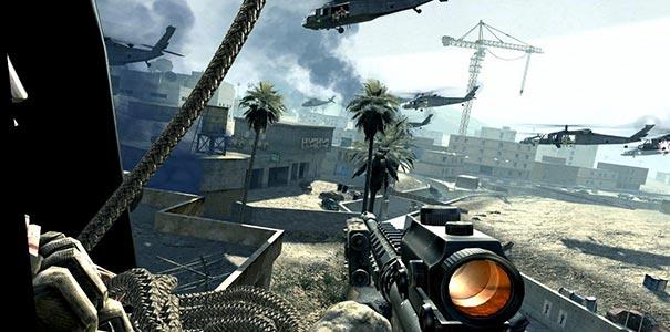 Usando Uma Metralhadora Em Call Of Duty 4: Modern Warfare